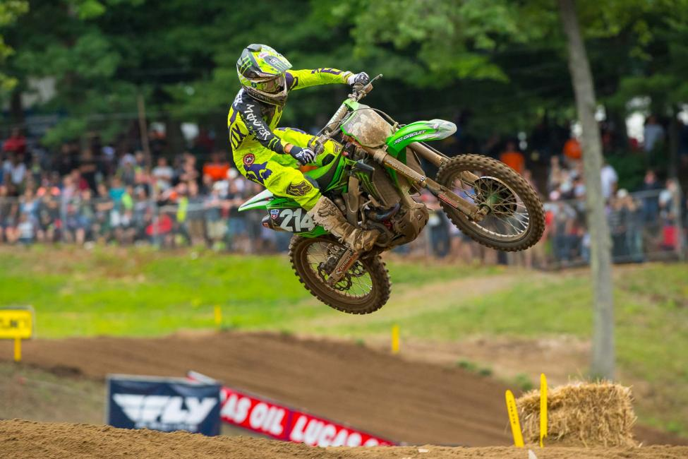 Rookie Forkner landed on the overall podium for the first time in third