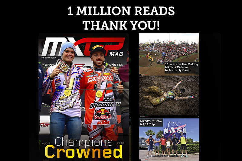 MXGP Mag Reaches 1 Million Reads