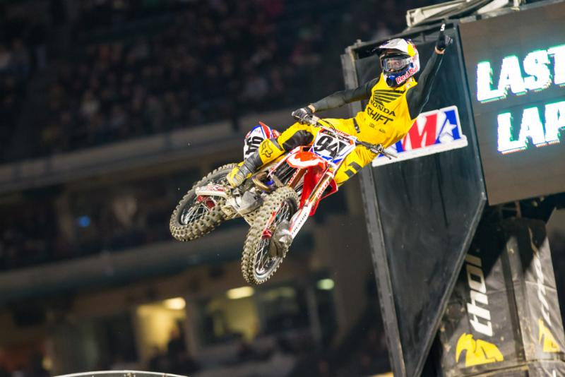 Roczen took his third Anaheim opener win in his championship debut with Team Honda HRC