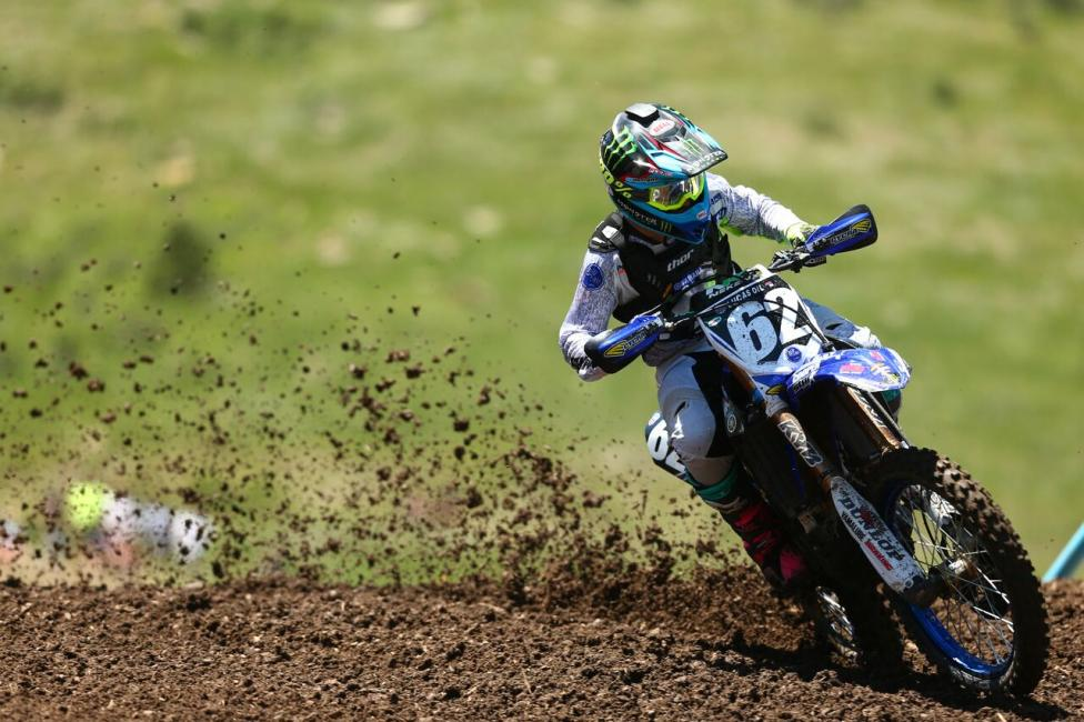 Justin Cooper earned his first career moto win and finished third overall (1-8).