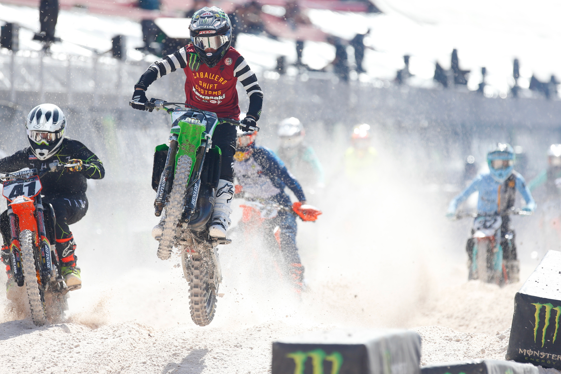 Chance Hymas led Team Green by finishing third place in his first Monster Energy Cup