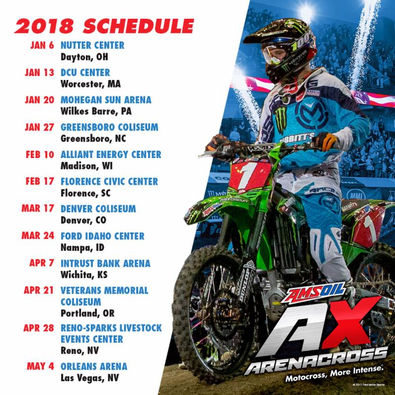 2018 Schedule Announced for Highly-Anticipated AMSOIL Arenacross Season