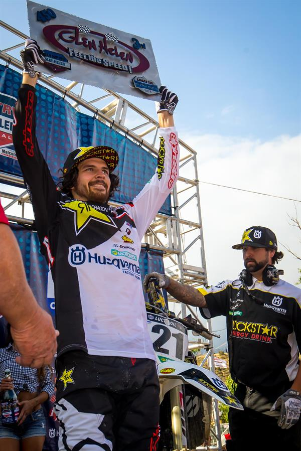 ROCKSTAR ENERGY HUSQVARNA FACTORY RACING'S JASON ANDERSON LANDS ON THE PODIUM AT GLEN HELEN NATIONAL