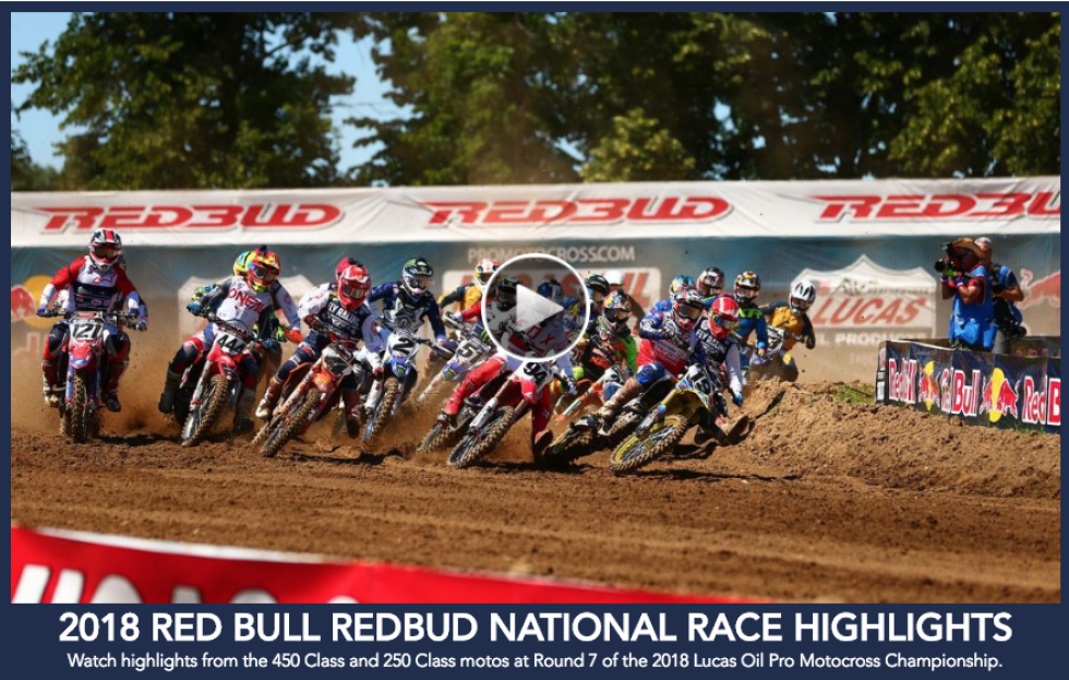 Lucas Oil Pro Motocross Championship Highlights: Red Bull RedBud National
