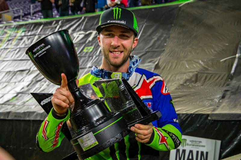 Tomac captured his seventh win of the 2018 season at Round 14 and the first-ever overall Triple Crown Championship in Minneapolis. Photo credit: Feld Entertainment, Inc.