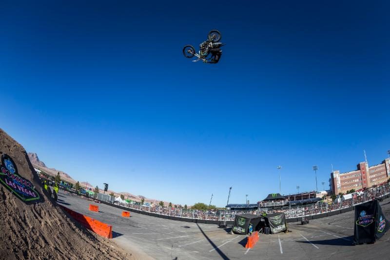 The Dirt Shark Biggest Whip Contest at the 2018 Monster Energy Cup on October 13 in Las Vegas will feature the world''s best freestyle motocross athletes, including Axell Hodges.