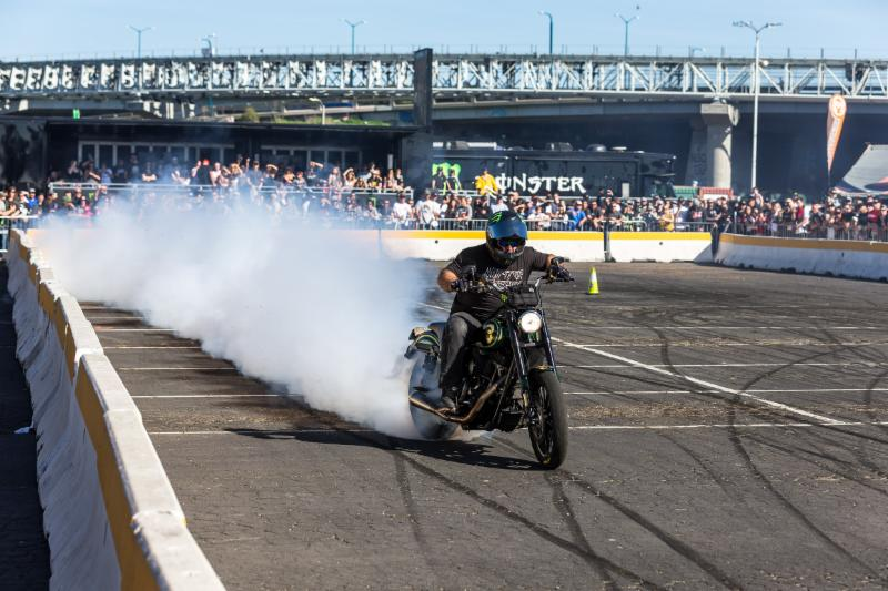 Motorcycle stunt riders, Unknown Industries, will perform wheelies, drifts and other amazing tricks inside of the Pit Party on October 13 at Sam Boyd Stadium