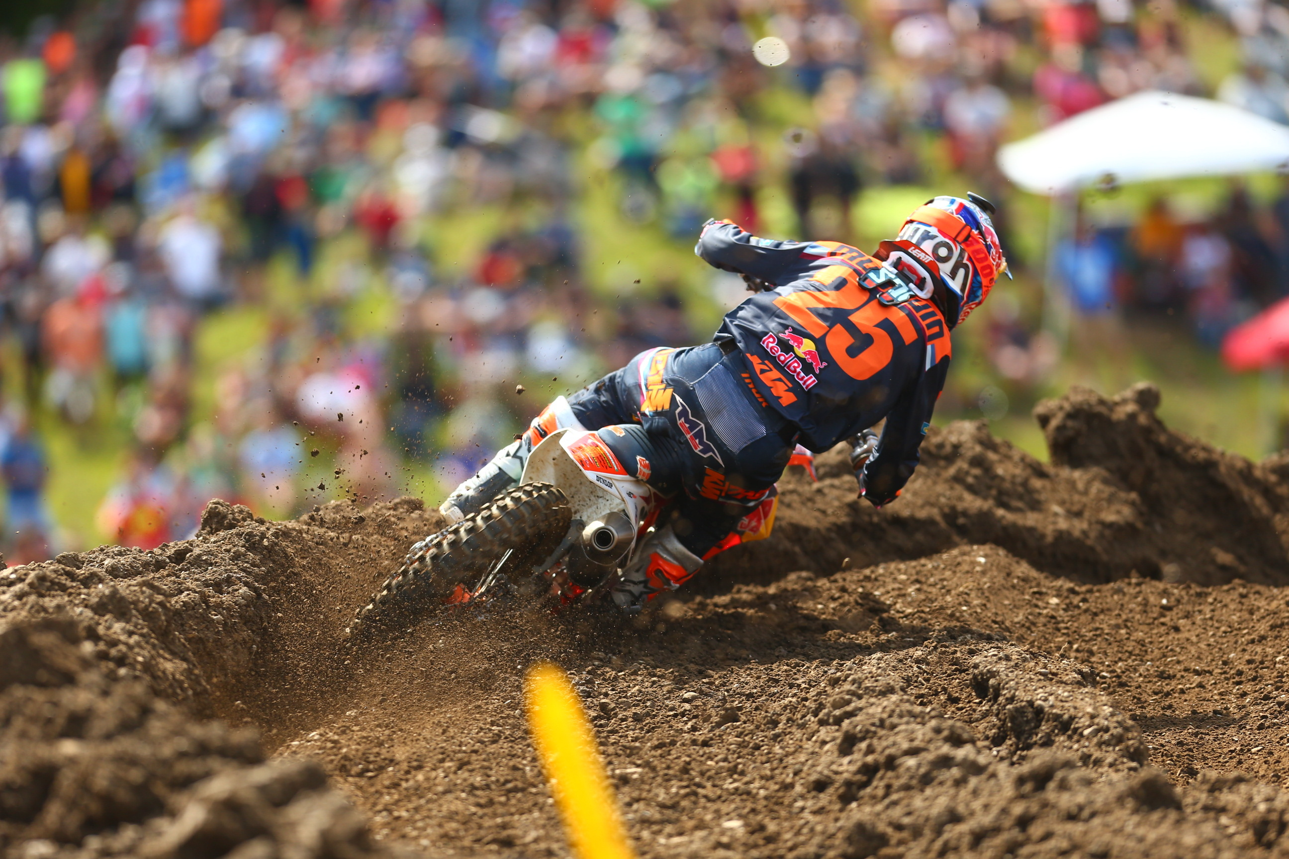 Musquin was in the hunt early and finished second best in class