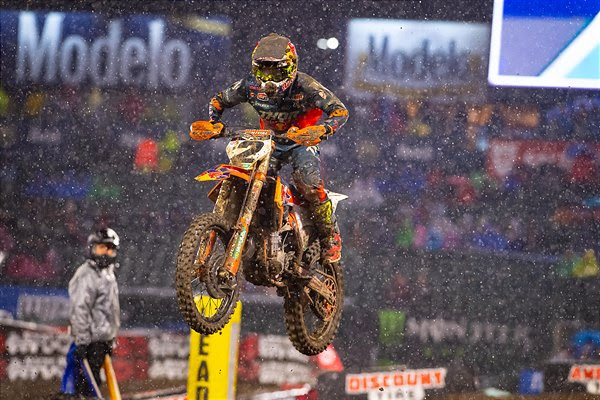 COOPER WEBB TAKES RED BULL KTM TO A TOP-FIVE FINISH AT MUDDY ANAHEIM SX OPENER