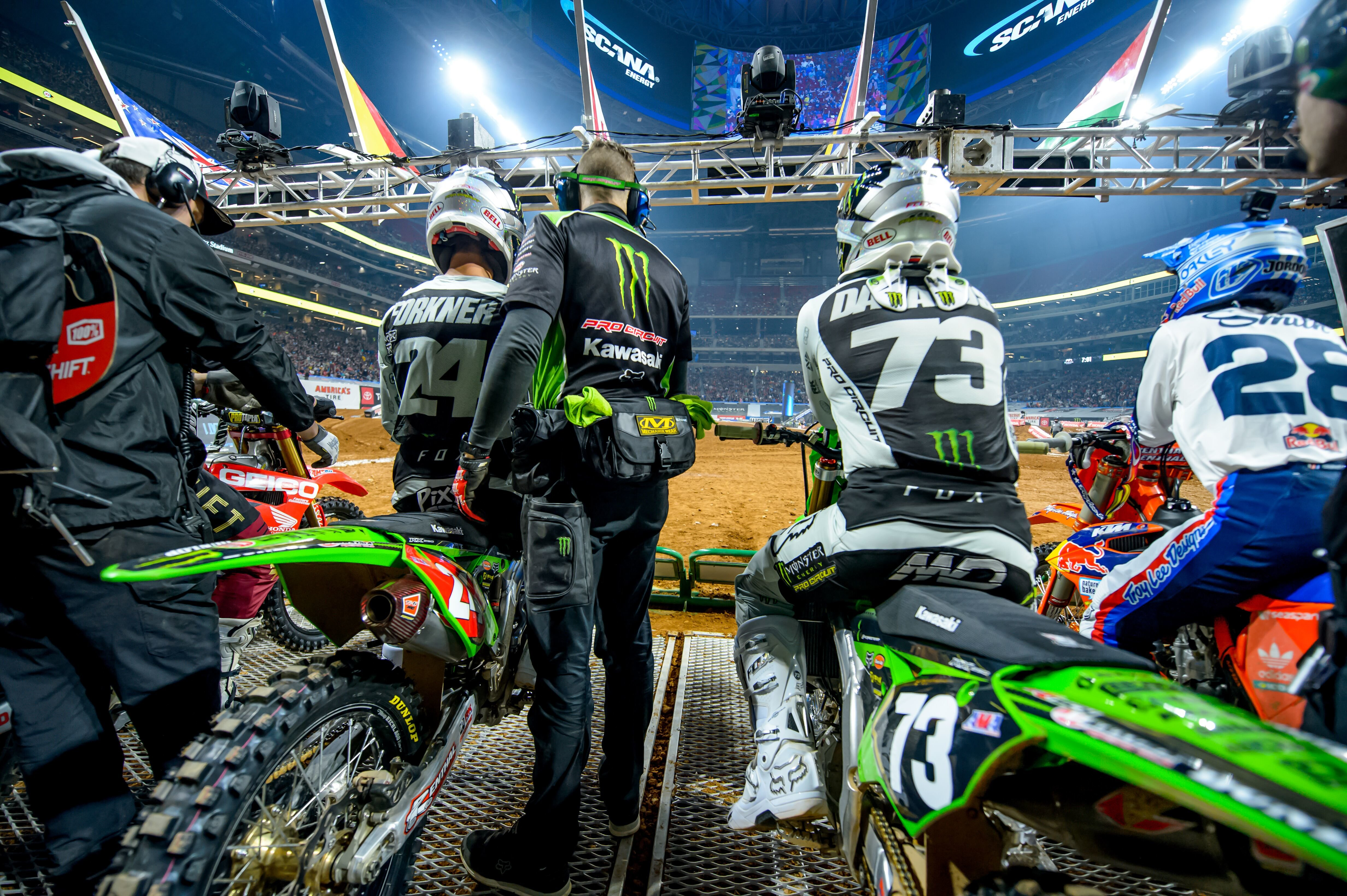 Monster Energy Pro Circuit Kawasaki Determined To Keep Streak Alive in Daytona