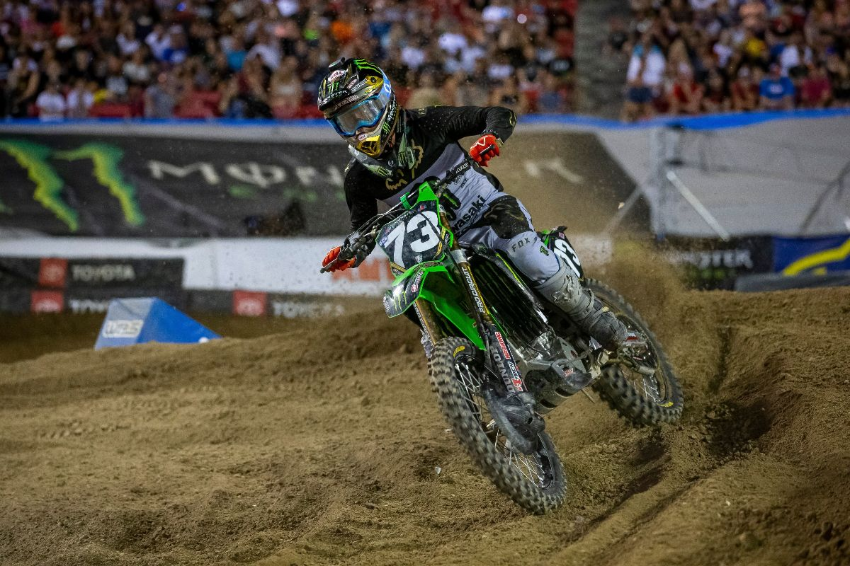 Monster Energy Pro Circuit Kawasaki's Davalos Caps Off 250 Career with Top 10 Finish