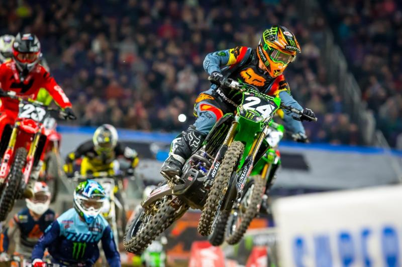 Austin Forkner started the Eastern Regional 250SX Class series by dominating the day