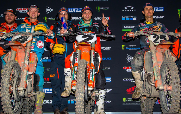KTM SWEEPS 450SX PODIUM IN OAKLAND WITH RED BULL KTM''S WEBB AND MUSQUIN AT THE HELM