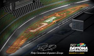 2020 Monster Energy Supercross Daytona Track Map