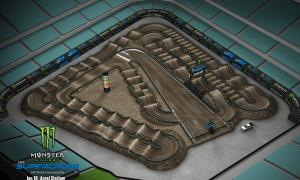 2020 Monster Energy Supercross Anaheim 2 Track Map