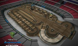 2020 Monster Energy Supercross Glendale Track Map