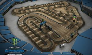 2020 Monster Energy Supercross Oakland Track Map