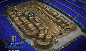 2020 Monster Energy Supercross Arlington Track Map