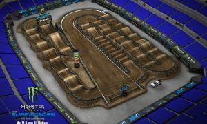 2020 Monster Energy Supercross Indianapolis Track Map
