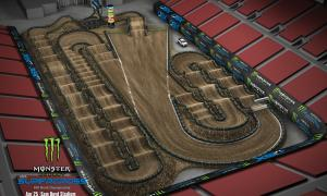 2020 Monster Energy Supercross Las Vegas Track Map