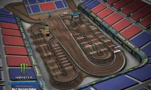 2020 Monster Energy Supercross Salt Lake Track Map