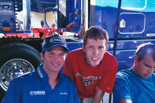 Chad Reed and Larry at Yamaha of Troy 2004