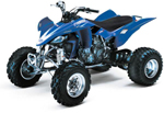 EVO 3 Series Graphic Kit Yamaha YFZ450 blue 04-07