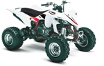EVO 3 Series Graphic Kit Yamaha YFZ450 white 04-07