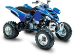 EVO 3 Series Graphic Kit Yamaha Raptor 660 blue 01-05