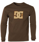 DC Shoes Mens Star LS Chocolate
