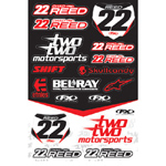Chad Reed Two Two Motosports Sticker Sheet