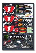 Jason Lawrence sticker kit 2009