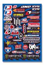 Universal Motocross Industry sticker kit 2009