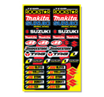 Rockstar Makita Suzuki Sticker Kit 2008