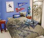 Motocross Duvet Bedding Set Full