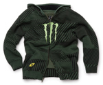 Kids Monster Energy Hooded Zip Sweatshirt Green